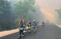 ДСНС повідомила про ліквідацію семи із десяти осередків пожеж на Луганщині