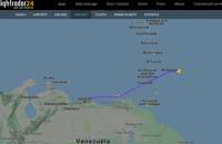 В районе Каракаса заметили самолет Минобороны РФ