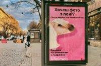 Зоозащитники установили в украинских городах ситилайты для фото с животными