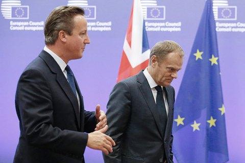 Туск висловив сподівання, що Великобританію вдасться умовити залишитися в ЄС