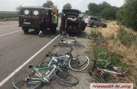 Под Николаевом автомобиль въехал в группу детей на велосипедах