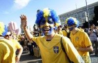 Тисячі вболівальників збірної Швеції знову пройшлися маршем в Києві