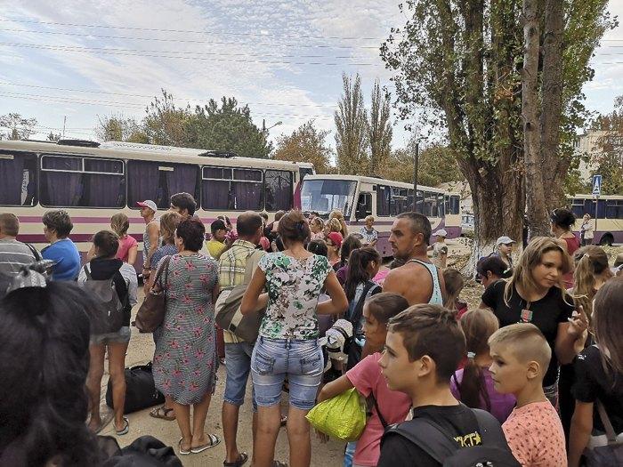 Эвакуация в с.Песчаное, Бахчисарайский р-н