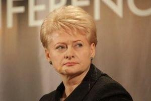 Грибаускайте: Россия ведет войну против Европы