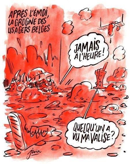 Карикатура на теракт у Брюсселі