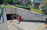 С 1 сентября в подземных переходах будут ставить разделительные поручни на вход и выход