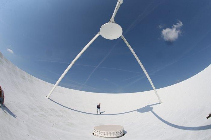 Найбільший діючий радіотелескоп в Україні.