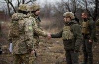 Зеленський побував на передовій на Донбасі