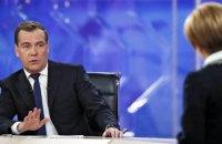 """Медведєв заявив, що транзит газу через Україну можливий тільки за """"нульовим варіантом"""""""