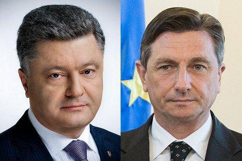 Порошенко по телефону привітав президента Словенії з переобранням