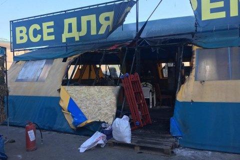 Житель Харькова получил три года за поджог волонтерской палатки