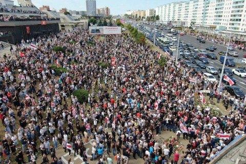 МВД Беларуси заявило о более полутысячи задержанных на акциях протеста в воскресенье