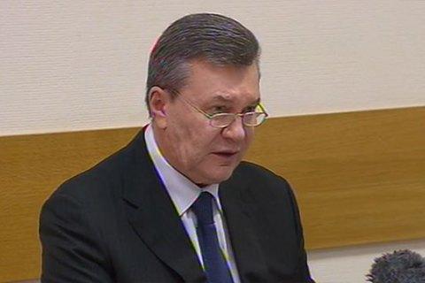 """Янукович відхрестився від слів про перевищення """"Беркутом"""" повноважень на Майдані"""