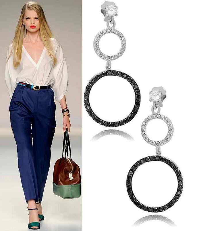 Золоті та срібні сережки  модні тренди літнього сезону - портал ... 64919da3f9948