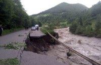 На западе Украины подтоплены 262 населенных пункта, разрушены 154 км дорог и 57 мостов, - ГосЧС