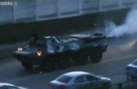 У центр Києва рухаються два БТРи