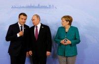 Стало известно, о чем Меркель и Макрон разговаривали с посланниками Путина