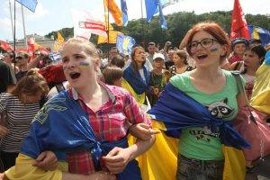 У центрі Дніпропетровська захищали українську мову