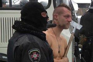 """МВС розпочало перевірку за фактом знущань """"Беркута"""" з демонстранта"""