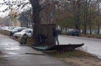 В Житомире протестуют против стройки депутата горсовета: снесли забор и вызвали милицию