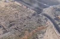 З'явилося відео з місця падіння українського літака в Ірані, зняте з висоти