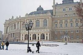 На Одессу обрушились снегопады