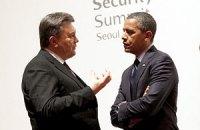 Сайт Белого дома не заметил встречи Обамы с Януковичем