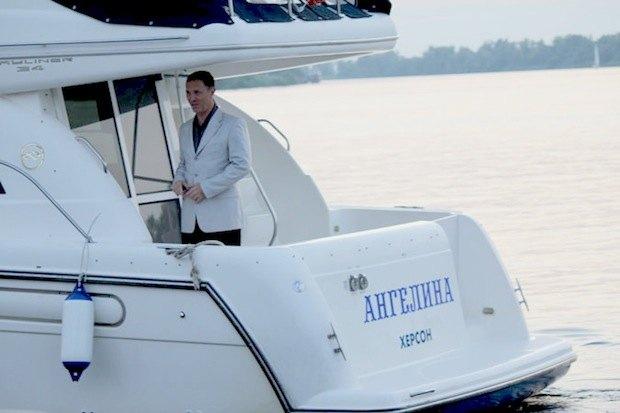 Мэр Херсона на яхте