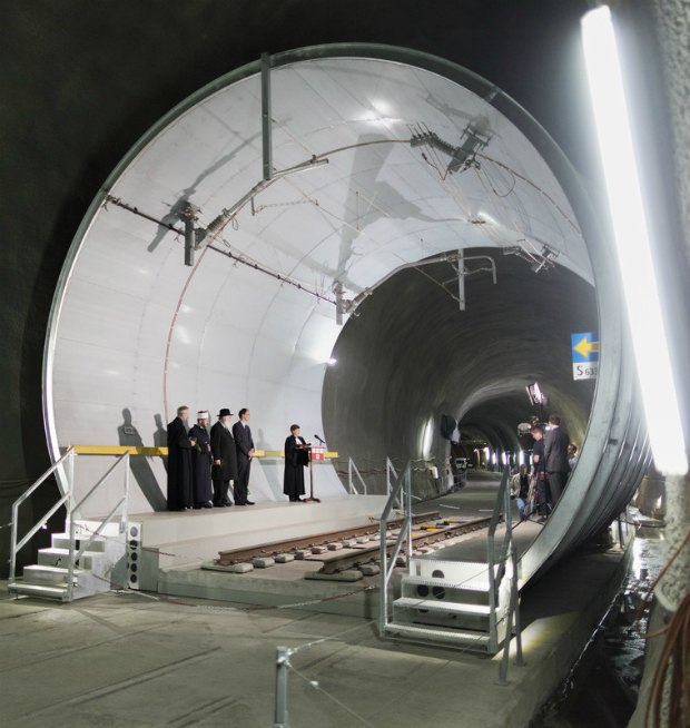 Церемония открытия Готардского туннеля