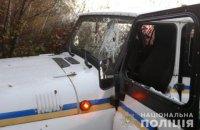 Копачі бурштину пошкодили три поліцейські автомобілі в Рівненській області