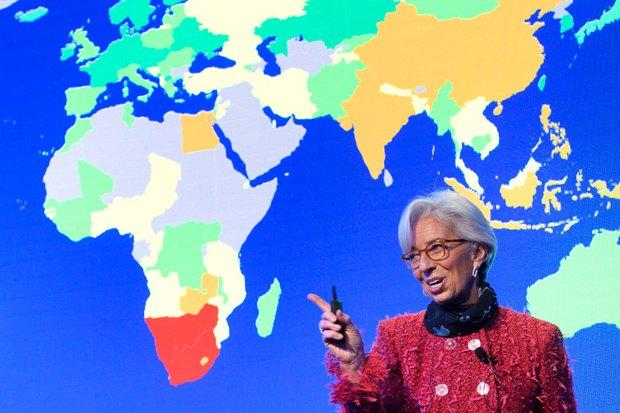 Директор Международного валютного фонда Кристин Лагард с докладом на ВЭФ