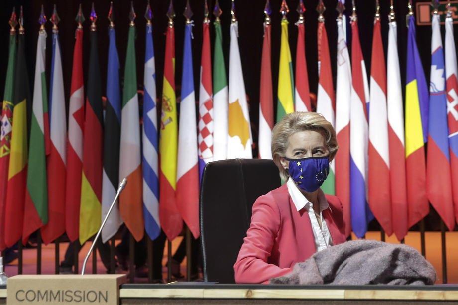 Президентка Єврокомісії Урсула фон дер Ляєн під час саміту ЄС у Порту, 8 травня 2021