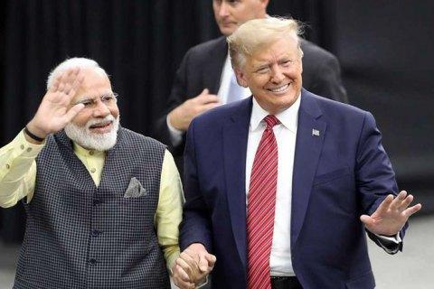 """""""Рок-звезда"""" Дональд Трамп в Индии"""