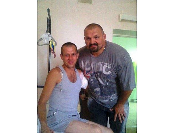 Сергей Гордийчук в больнице после ампутации