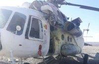 Двох українців поранено внаслідок влучення ракети у вертоліт в Афганістані