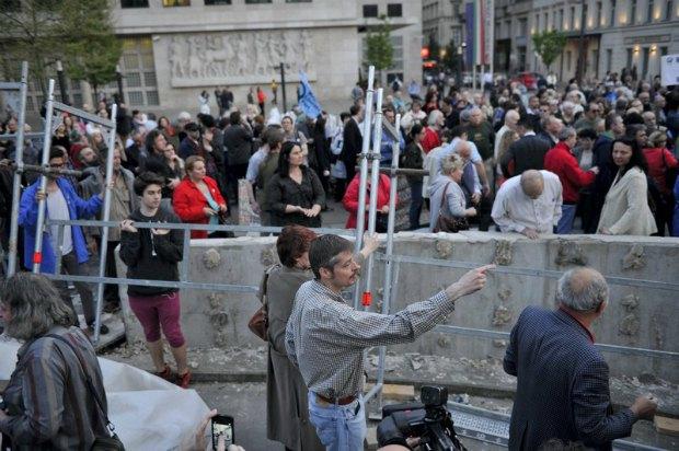 Протесты против строительства спорного мемориала в Будапеште