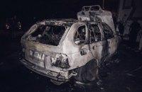 На Троещине BMW на еврономерах подожгли коктейлем Молотова