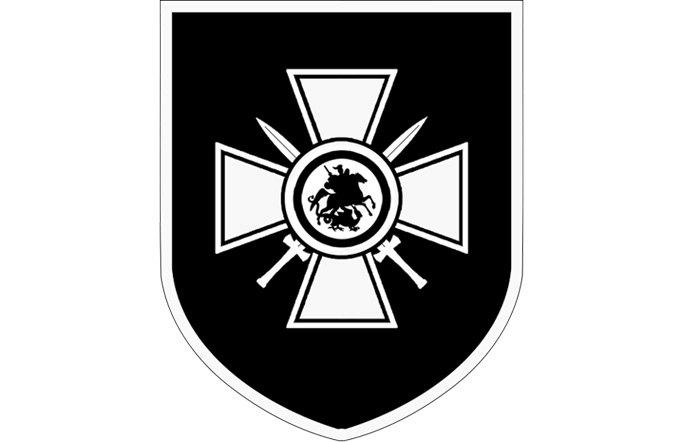 Емблема 29 гренадерської дивізії СС «РОНА». Георгіївський хрест з мечами. З 1992 року Георгіївський хрест відновлений у якості державної нагороди Російської Федерації.