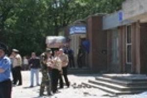 В Мелитополе произошла серия взрывов в отделении Ощадбанка