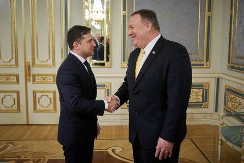 Зеленський подякував держсекретареві США за військову допомогу Україні