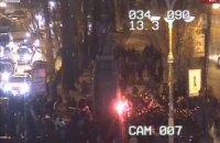 В Киеве пытались свалить памятник Ленину