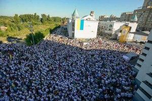 На освящение собора Воскресения Христова пришли 20 тыс. прихожан УГКЦ