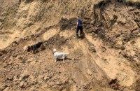 На місці зсуву ґрунту на Одещині не знайшли постраждалих
