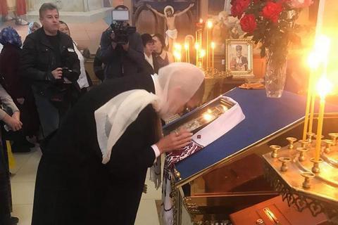 Тимошенко відвідала прифронтову Костянтинівку