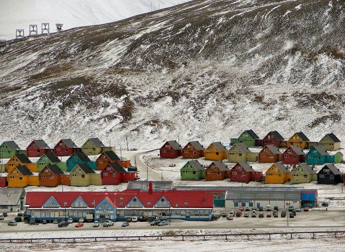Норвежский городок Лонгйир