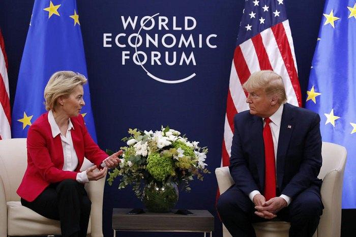 Президент Трамп на переговорах с главой Еврокомиссии Урсулой фон дер Ляйен