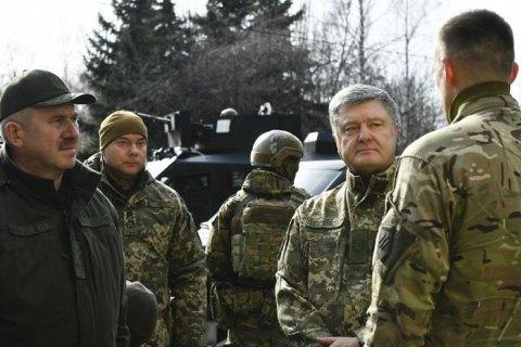 """Порошенко приехал на позиции """"Азова"""" на передовой"""