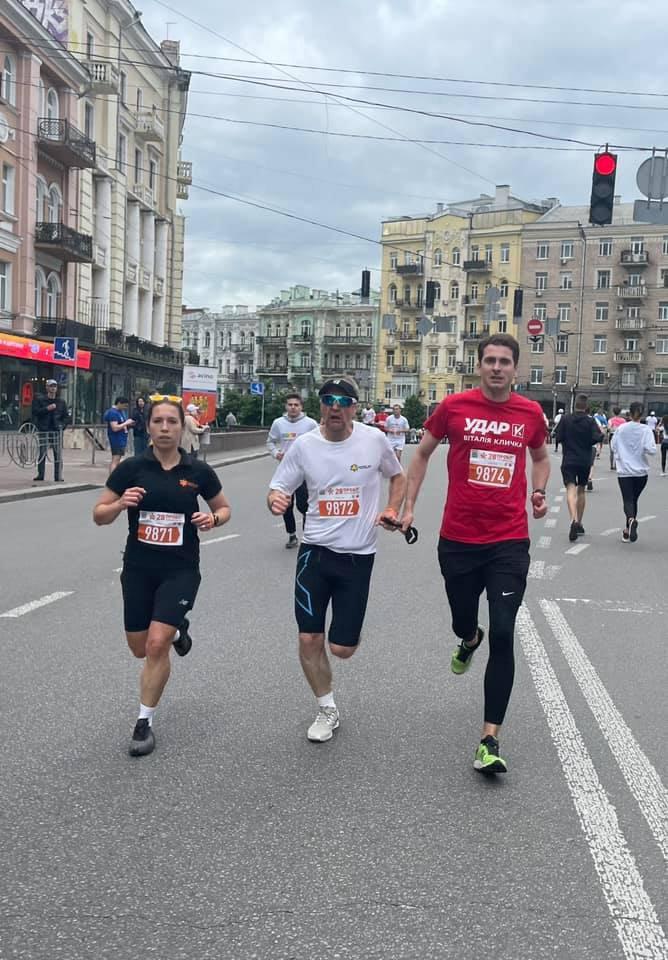 Білоцерковець на марафоні з Рубелем