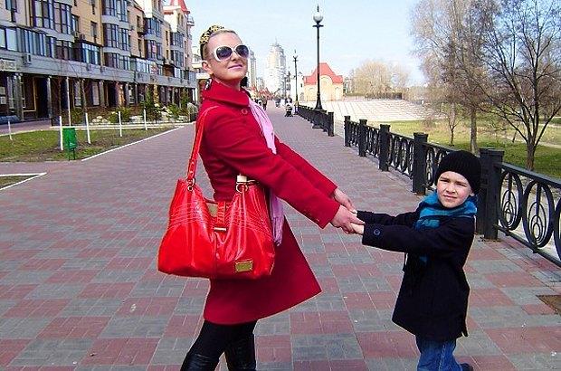 Мария с сыном, 2010 г.