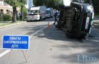 У Києві джип протаранив машину інкасаторів